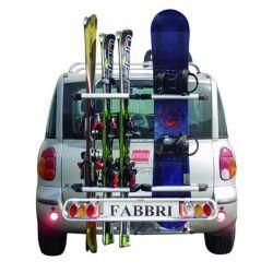 Porta-esquis para bola de reboque Fabbri EXCLUSIVE SKI&BOARD DELUXE