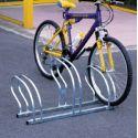 Suporte de chão lado-a-lado para 3 bicicletas