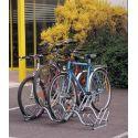 Suporte de chão lado-a-lado para 5 bicicletas