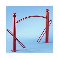 Suporte de chão com barreira para 2 bicicletas