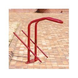 Suporte de chão para 2 bicicletas e cadeado em U