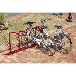 Suporte de chão para 4 bicicletas e cadeado em U