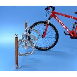 Suporte de chão em madeira para 3 bicicletas