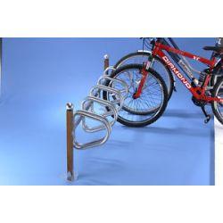 Suporte de chão em madeira para 5 bicicletas