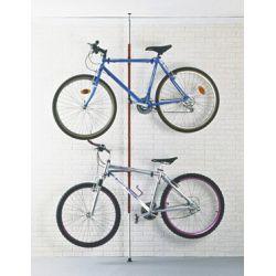 Suporte de teto/chão ajustável para 2 bicicletas