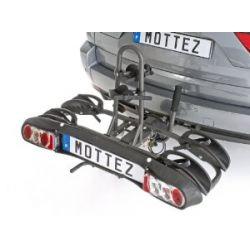 Porta-bicicletas para bola de reboque MOTTEZ DOBRÁVEL 2 BICICLETAS ELÉTRICAS