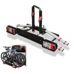 Porta-bicicletas para bola de reboque WIZARD TILTING 2 bicicletas