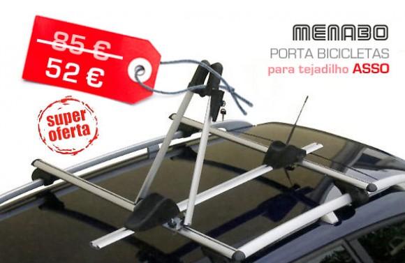 Porta bicicletas para tejadilho Menabo Asso 52€